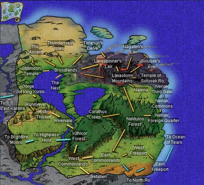 EverQuest World Maps | Pak'Cafan : EverQuest