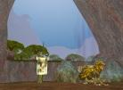 A Tame Griffon Guards an Island Portal